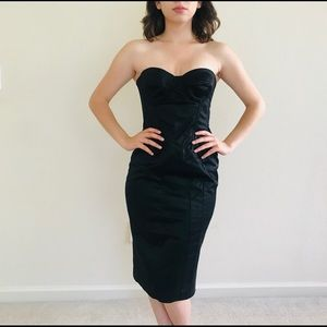 D&G Dolce & Gabbana Black BodyCon Dress SZ 8/44